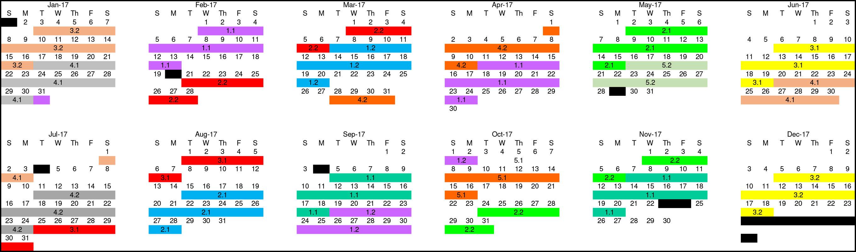 2017 - I-TAP Class Schedule