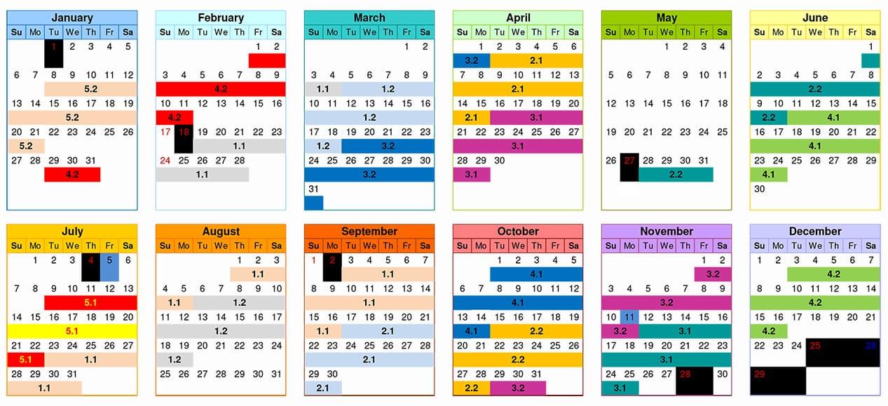 2019 Class Schedule