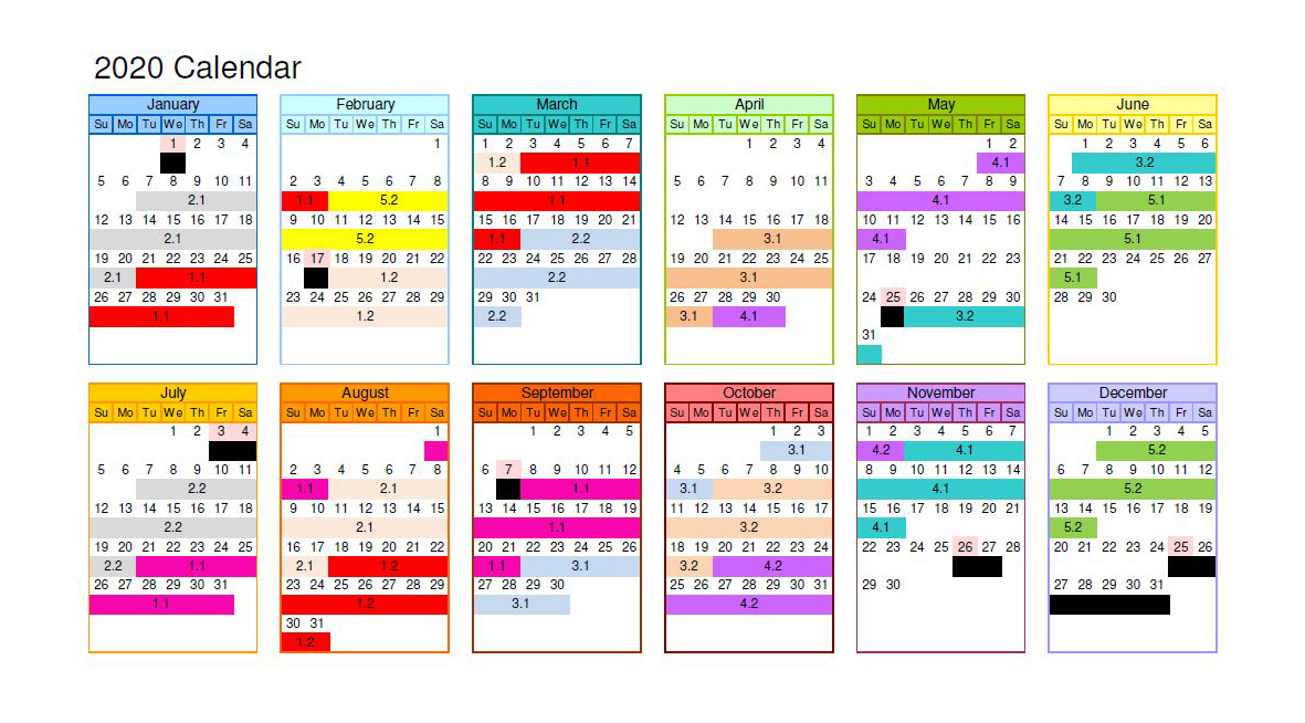 2020 I-TAP Course Schedule